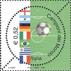 Francobollo dei mondiali di calcio 2006
