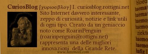 Definizione del CuriosBlog su dizionario antico