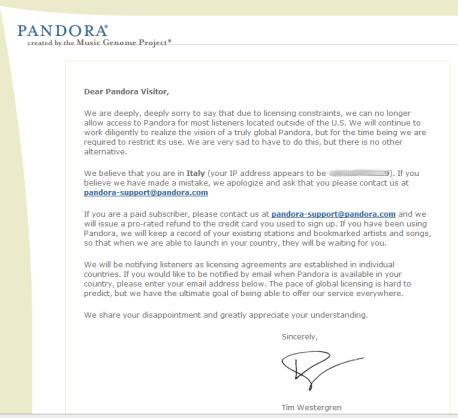 Brutte notizie da Pandora