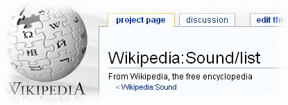 Wikipedia Sound List