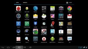 Schermata di Applicazioni Android